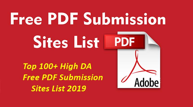 High PR/DA PDF Submission Sites